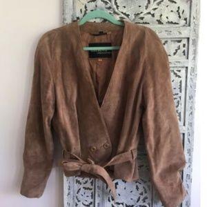 WOMENS VINTAGE BROWN GENUINE SUEDE Wilsons Leather